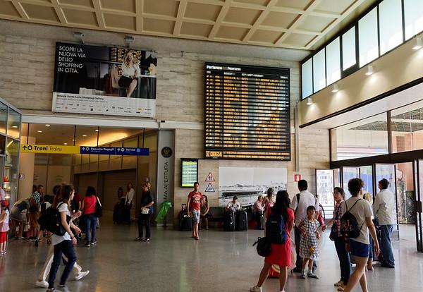 Venice Santa Lucia train station, we're #4 down, 9712 to Verona eventually