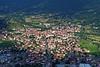 La Sognata, town below in afternoon sun