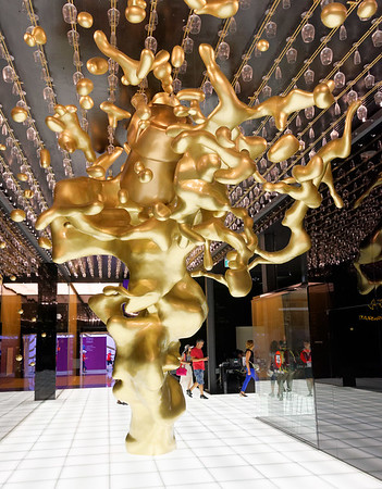 Expo Milano 2015:  Wine glasses line the ceiling, Vino Italy