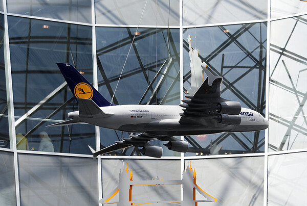 Frankfurt airport, model of Airbus A380