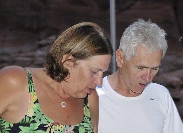 Linda and Frank (mostly Frank) memorizing dance steps