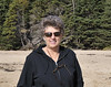 Suzanne at Sand Beach, drive through Acadia National Park, ME