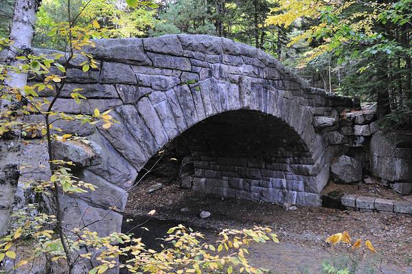 Bubble Pond Bridge, drive through Acadia National Park, ME