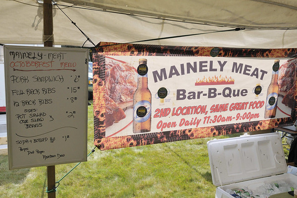 "the ""Mainely"" thing got old but the food/beer was great, Oktoberfest, Southwest Harbor, ME"