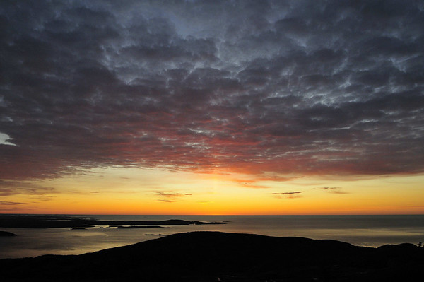 just before sunrise, Mount Desert Island, Cadillac Mtn, ME
