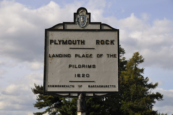 sign at Plymouth Rock, Plymouth, MA