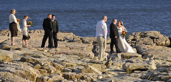 wedding party, drive around Mount Desert Island, ME