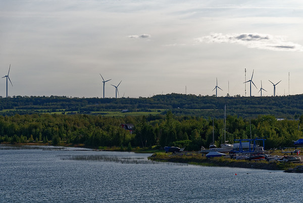 Manitoulin Island and Little Current, lots of windmills