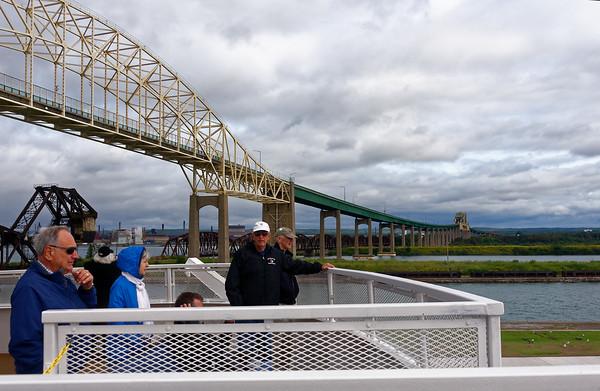 Sault Ste. Marie locks, under the International Bridge