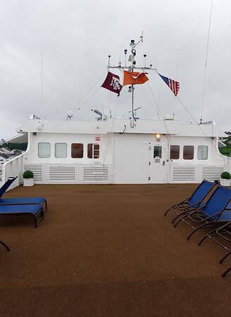 Mackinac Island, UT/A&M/USA flags
