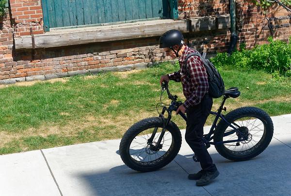 Toronto Ontario, urban cyclist