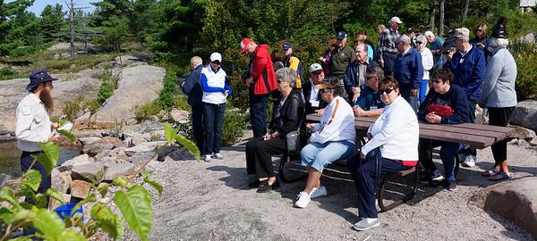 Killbear Park, Oliver explains the geology of the area