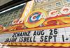 Chicago tour, Chicago Theatre marquee