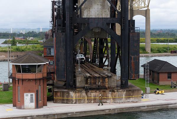 Sault Ste. Marie locks, lift bridge