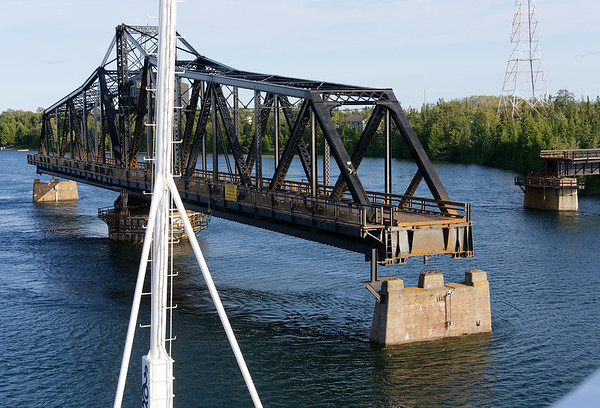 Manitoulin Island and Little Current, swing bridge