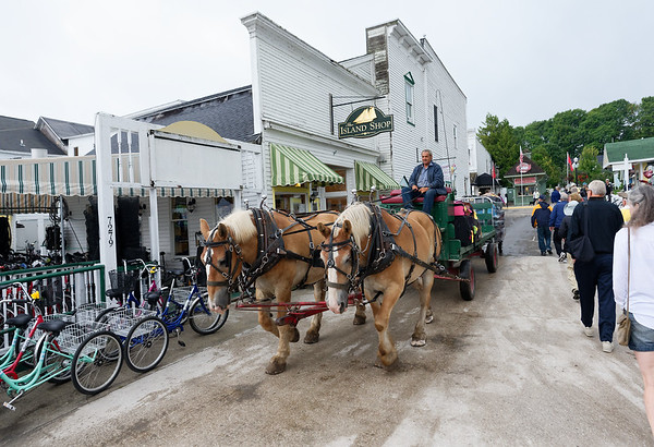 Mackinac Island, lots of employment for street sweepers