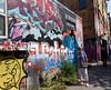 Toronto Ontario, graphics along Rush Lane