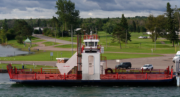 St. Mary's River, headed to Sault Ste. Marie locks