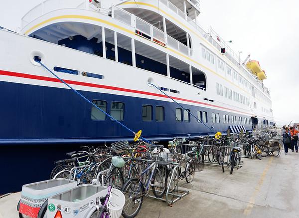 Mackinac Island, bikes are really popular