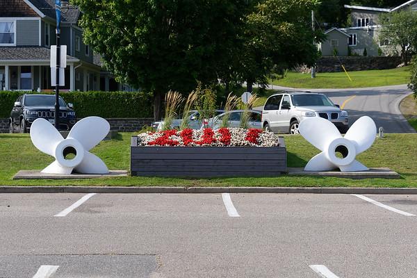 Parry Sound Ontario, parking lot area