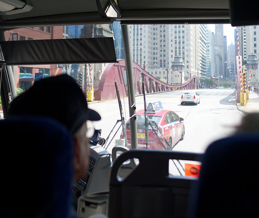 Chicago tour, iron bridge, N LaSalle Dr