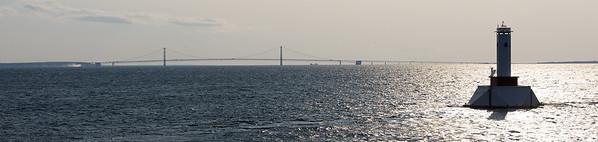 Mackinac Bridge in the distance