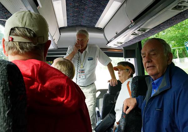 Niagara Falls Canadian side, guide Duane Todd doing his Bill Clinton thing