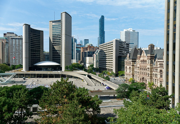 Toronto Ontario, view of the new City Hall from the Sheraton