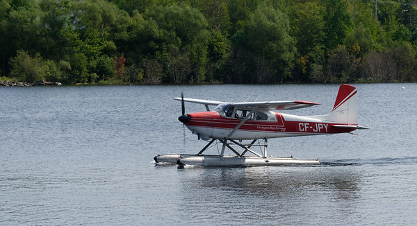 Parry Sound Ontario, the plane we would eventually take a ride on