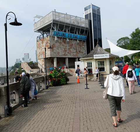 Niagara Falls, stairs and ramp to the boats