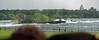 Niagara River Canadian side, turbulent river above the falls