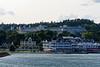 Departing Mackinac Island, The Grand Hotel