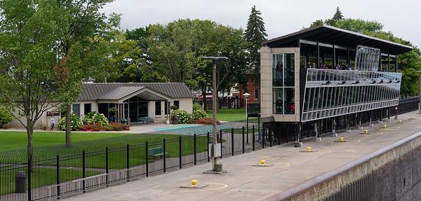 Sault Ste. Marie locks, viewing stands