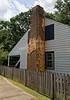 Lafayette LA - Vermilionville historical site - mud chimney, pegs for re-applying mud