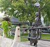 Bronze sculpture at the La Crosse riverfront