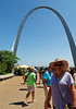 St. Louis MO - Suzanne and Gateway Arch