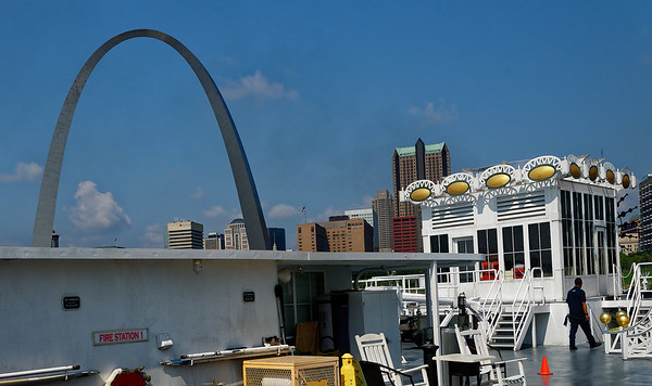 St. Louis MO, docked at the Arch