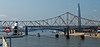 Martin Luther King Bridge with the Eads Bridge behind it