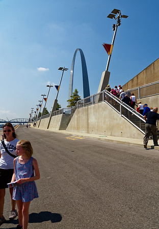 St. Louis MO - Gateway Arch and levees