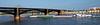 St. Louis MO - Eads Bridge and barge