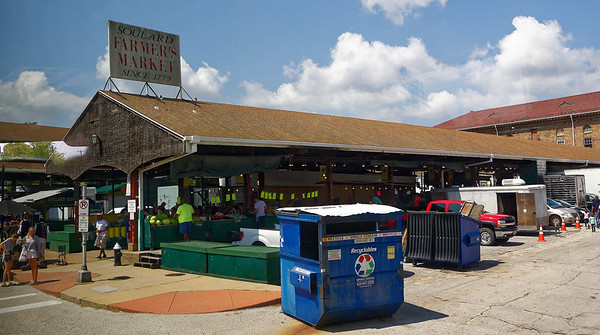 St. Louis MO - Soulard Market is the oldest farmers market west of the Mississippi - established in 1779.
