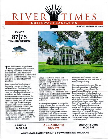 River Times - Nottoway Plantation, Houmas House and Oak Alley