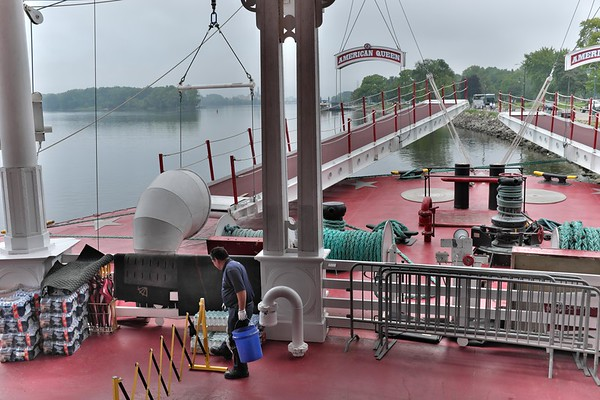 American Queen and the Mississippi at La Crosse