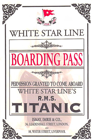 Boarding pass, front