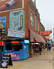 Memphis TN Beale Street, King's Palace Café, good music outside, poor food in