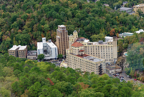 Hot Springs, AR - Army-Navy Hospial and start of spa row