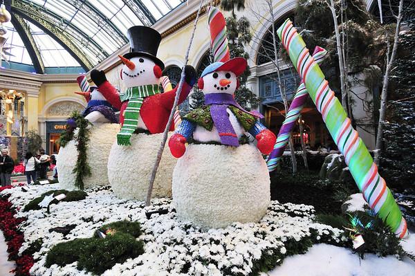 Bellagio Hotel snowmen
