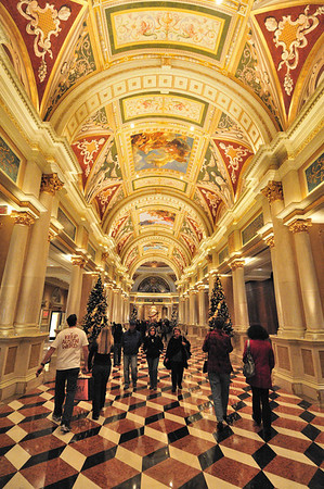 walkway at the Venetian
