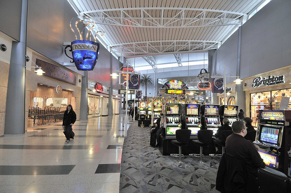 Playing the slots at the Las Vegas Airport