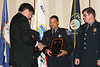 <b>IMG_43352</b><br>VACP President Chuck Bennett, Lynchburg, presents the Award for Valor to Officer Anton D. Keith, Alexandria Police Department